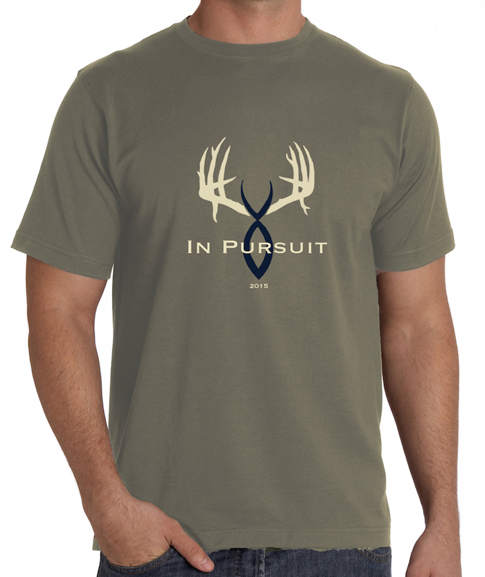 2015 In Pursuit Challenge T-SHIRT (Soft-style, heather/military shirt.)